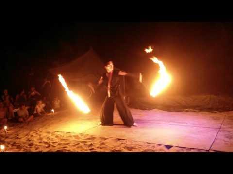 "Feb. 2, 2016. Goa, Arambol, Shek ""Samantha"". Fire Show. Dancer  Kivamu Miyakubo."