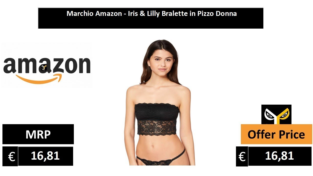 Marchio Iris /& Lilly Bralette in Pizzo Donna