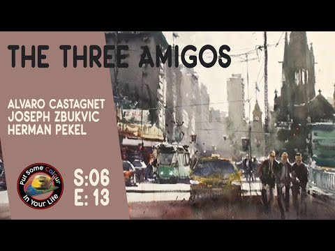 Greatest Fine Art Watercolour Show in the World - The Three Amigos on Colour In Your Life