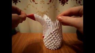 """модульное оригами """"Маленький Лебедь"""" мастер класс"""