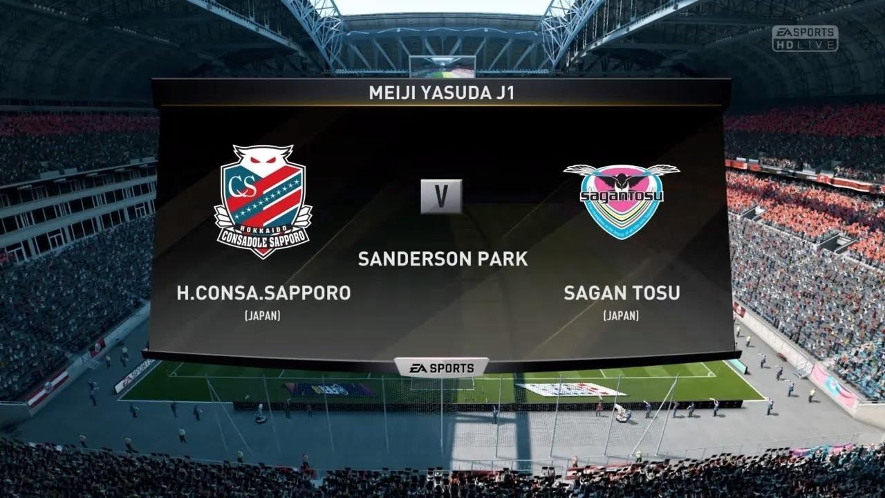 Consadole Sapporo Vs Sagan Tosu J1 League 28th Sec 2018 9 29 Simulation Match Youtube