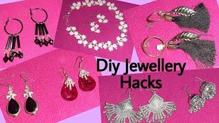 Diy jewellery hacks| very easy jewellery hacks| beautiful diy jewellery hacks