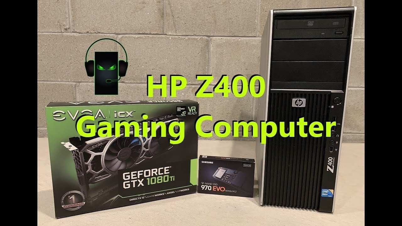 HP Z400 Gaming Computer (GTX 1080 Ti and NVMe 2 Install)