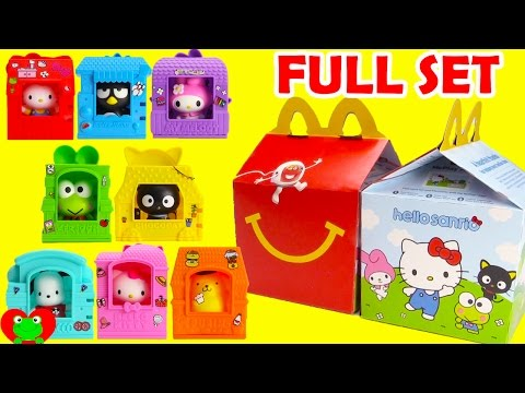 2016 Hello Sanrio McDonald's Happy Meal Toys Hello Kitty Full Set