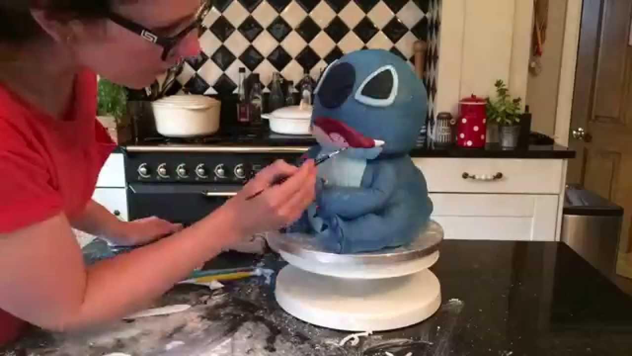 Lilo And Stitch Cake 3d Stitch Cake Youtube
