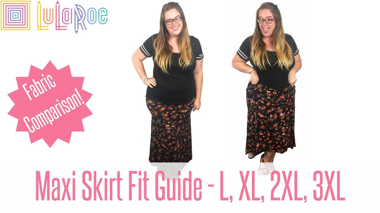 dd056f5d348 LuLaRoe Maxi Skirt - Fit Guide with Plus Size Try on and Twirling ...