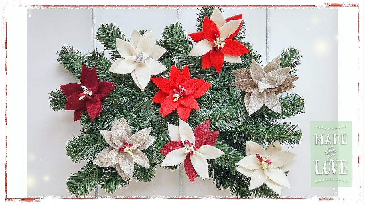 Stelle Di Natale Da Costruire stella di natale in feltro facile & senza cucire