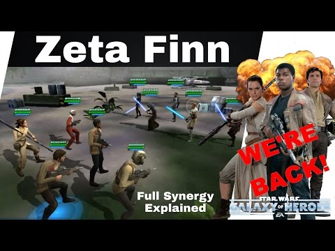 Star Wars Galaxy Of Heroes Zeta Finn & Full Resistance Team: Synergy All Explained