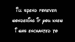 Repeat youtube video Enchanted - Taylor Swift Lyrics
