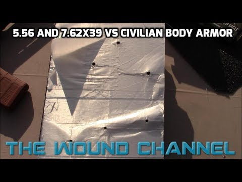 Civilian Body Armor vs AR15 and AK47