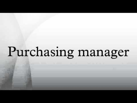 Purchasing manager - YouTube