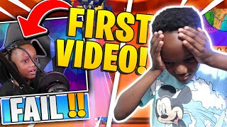 Reacting To My First Fortnite Video ( I Was A NOOB)