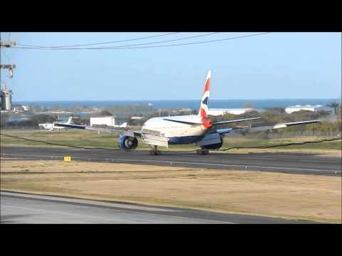 British Airways Beautiful Sunset Landing in Antigua 1080p HD