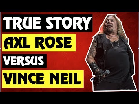 Guns N' Roses:True Story Behind the Vince Neil (Motley Crue) vs Izzy Stradlin & Axl Rose