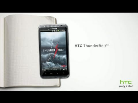 The HTC ThunderBolt™ inspired by you