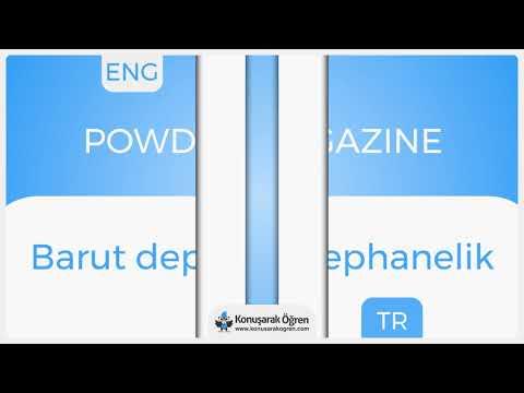 Powder magazine Nedir? Powder magazine İngilizce Türkçe Anlamı Ne Demek? Telaffuzu Nasıl Okunur?