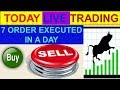 Intraday live trading # 7 order executed in a day | 07-01-19