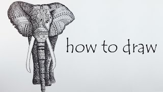 mandala elephants drawing lesson