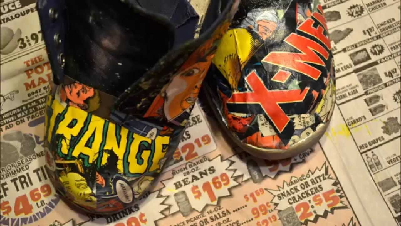 Mod Podge Comic Shoes/Sandals: 10 Steps with Pictures