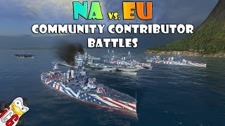 World of Warships - NA vs EU Community Contributor Battles thumbnail