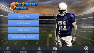 Short overview of Pro Strategy Football