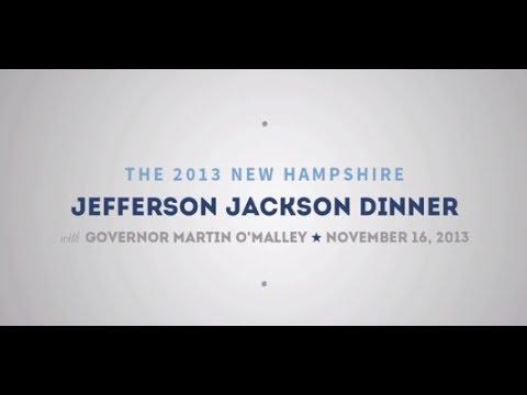 Governor O'Malley - 2013 NH Jefferson Jackson Dinner (Full Speech)