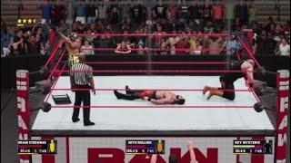 WWE 2K18 Triple Threat Match!! Raw New Arena Look!!!
