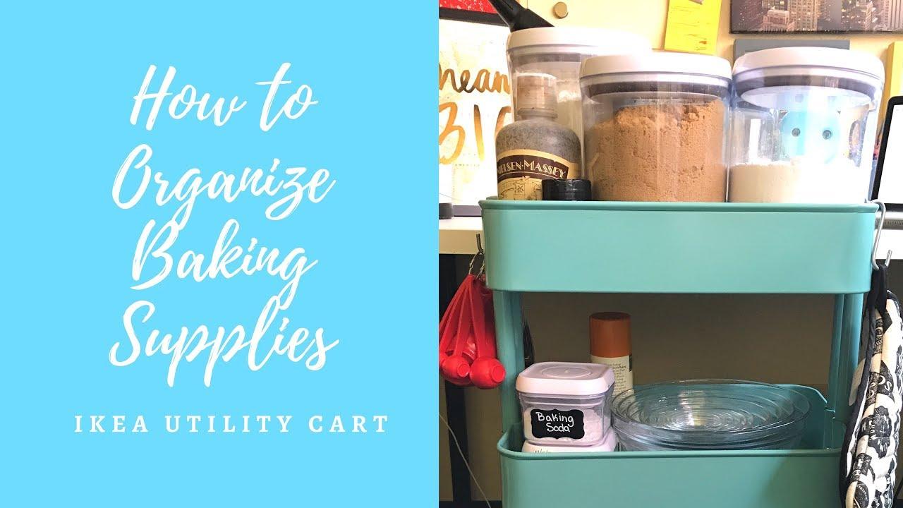How Toanize Baking Supplies  Ikea Utility Cart