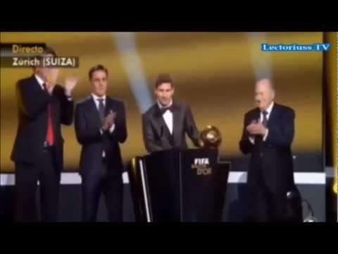 Messi Balon De Oro 2013 Lionel Messi Gana El Balon De