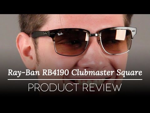 ray ban clubmaster square polarized  Ray-Ban RB4190 Clubmaster Square Sunglasses Review - YouTube