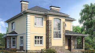 Проект двухэтажного дома в 2020 4 спальни | Ремстройсервис М - 162