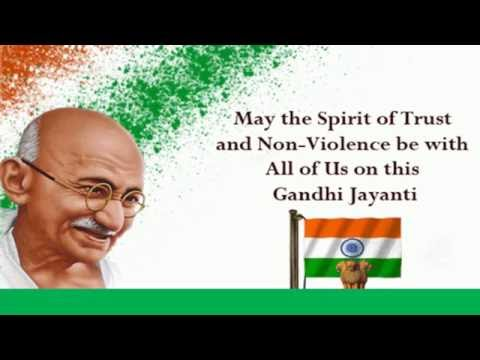 Happy Gandhi Jayanti 2016 wishes & Greetings, Whatsapp Video Download, SMS, Quotes