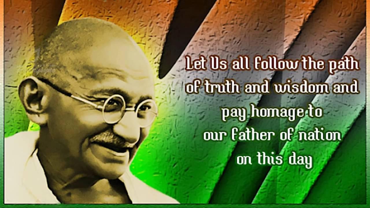 Happy Gandhi Jayanti 2016 Wishes Greetings Whatsapp Video