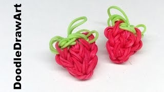 Craft:  How to Make a Strawberry Rainbow Loom Charm