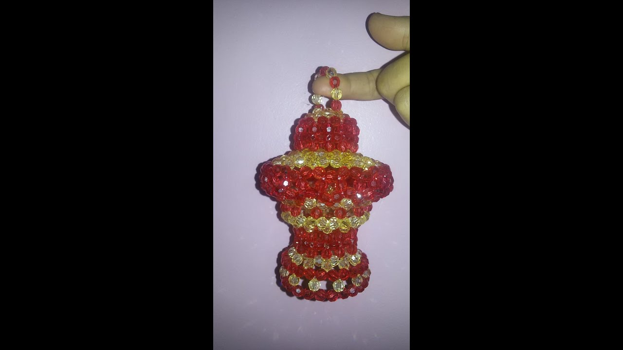 طريقة عمل فانوس صغير من الخرز مريم عثمان How To Make Beaded Lantern Youtube Perler Beads Designs Lanterns Decor Bead Designs