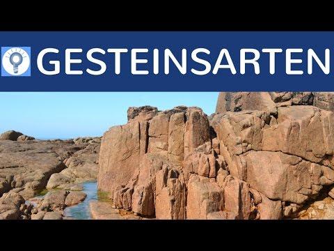 Gesteinsarten & Gesteinstypen - Magmatisches- & Metamorphes- & Sediment- Gestein einfach erklärt