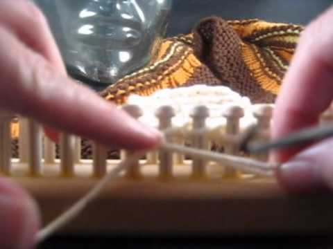 Loose Stitches In Knitting : Loom Knitting Loose Cast Off Stitch - YouTube