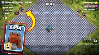 WALL WRECKER VS WALL MAX LEVEL !!! CLASH OF CLANS PRIVATE SERVER
