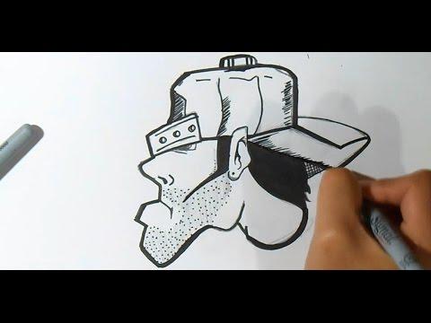 cómo dibujar un personaje Rapero con gorra