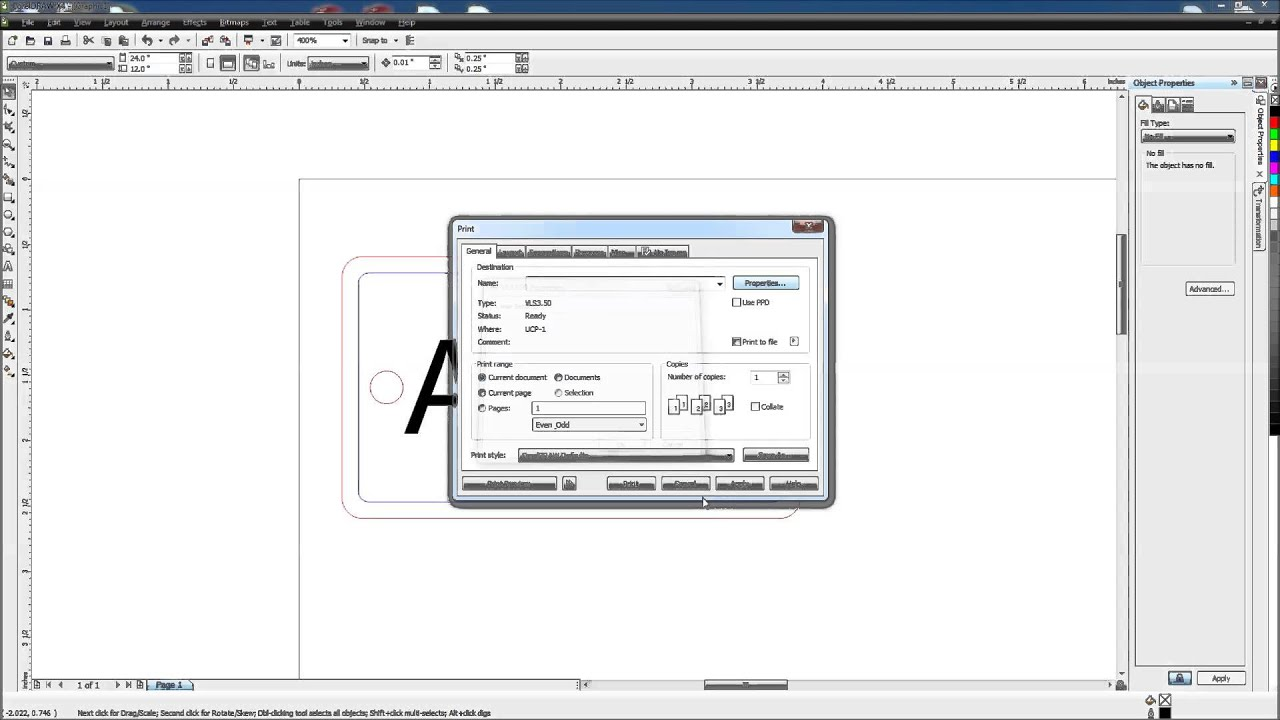 Universal Laser Quick Start Tutorial with Corel Draw