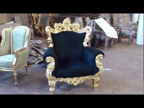 Luxury Italian Furniture Golf Leaf Sofa Carving | VIXIDesign.com
