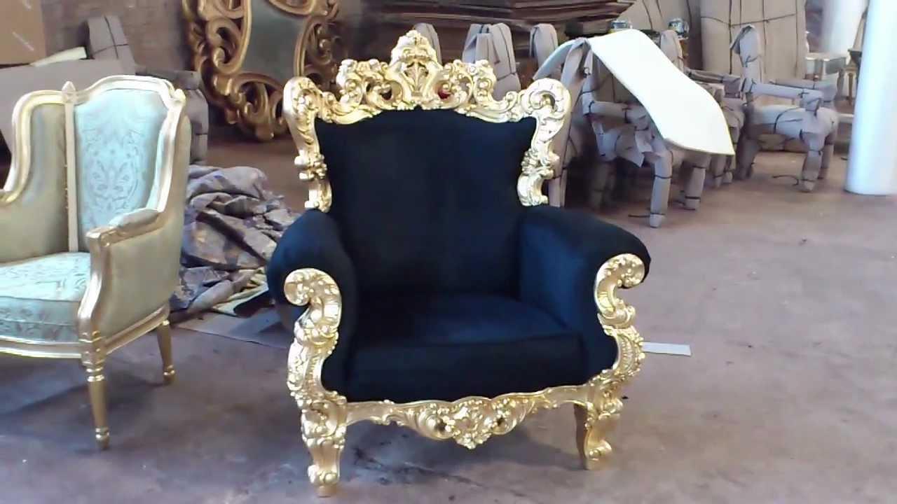 Luxury Italian Furniture Golf Leaf Sofa Carving | VIXIDesign.com   YouTube