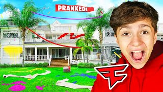 13 YEAR OLD PRANKS $30,000,000 FAZE HOUSE For 24 HOURS!!
