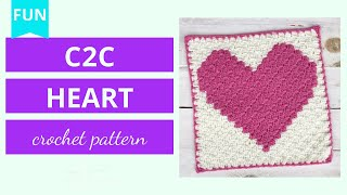 two hearts for afghan CROCHET graph with instructions PATTERN