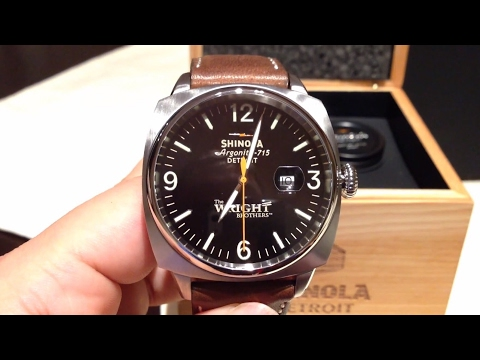 The Wright Brothers limited edition watch built in Detroit by Shinola unboxing and first impressions