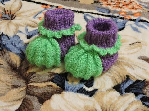 носки, пинетки Вязание спицами, крючком, уроки вязания