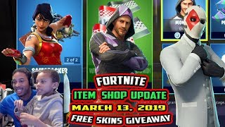 FORTNITE ITEM SHOP UPDATE -NEW- SCARLET DEFENDER, WILD CARD IS BACK, MONIKER - 13 MARS 2019