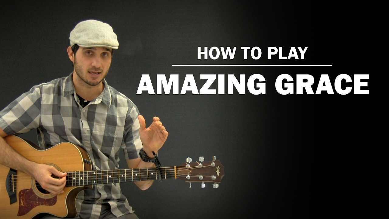 amazing grace john newton how to play beginner guitar lesson youtube. Black Bedroom Furniture Sets. Home Design Ideas