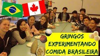 GRINGOS EXPERIMENTANDO COMIDA BRASILEIRA (MUITOS DOCES) - DIÁRIO DE INTERCÂMBIO CANADÁ #18