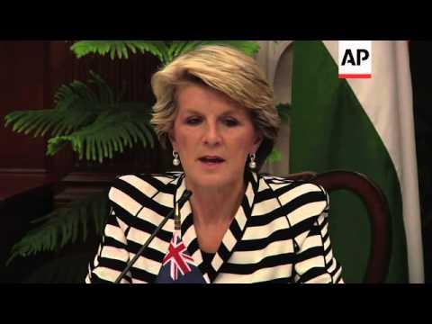 Australian FM Bishop meets Indian FM Khurshid, comments on Indonesia spying